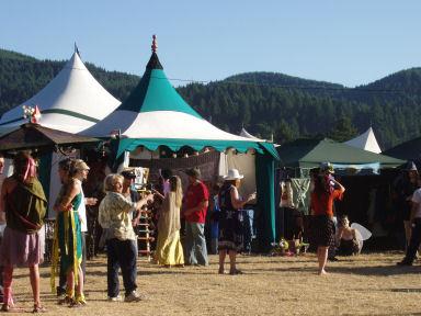 Hills of Veneta rise above the fair.