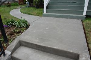 slab and curved walk
