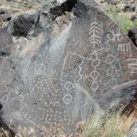 Shoshone petroglyph Map Rock