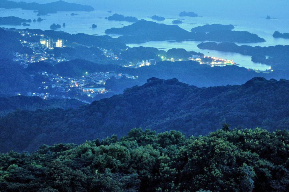 Looking west from the observatory, a view of the Kujukushima