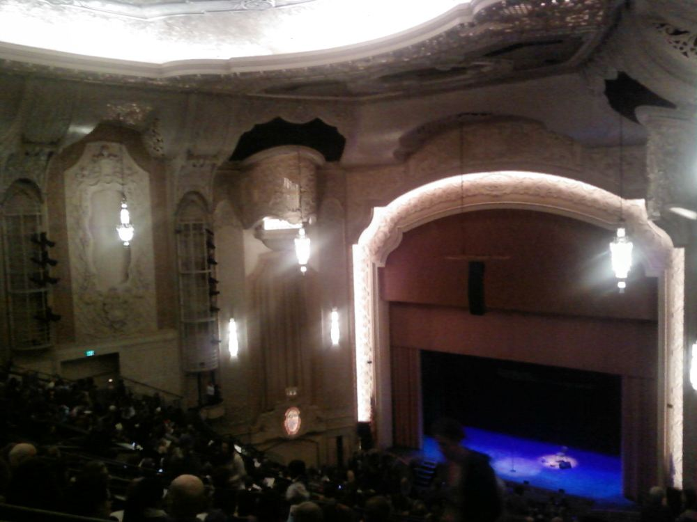 Forgive the terrible phone camera image from inside the theatre.