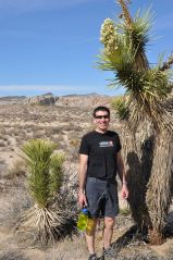 Arno beside a Joshua Tree