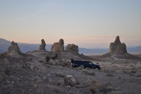 Looking north toward the town of Trona.