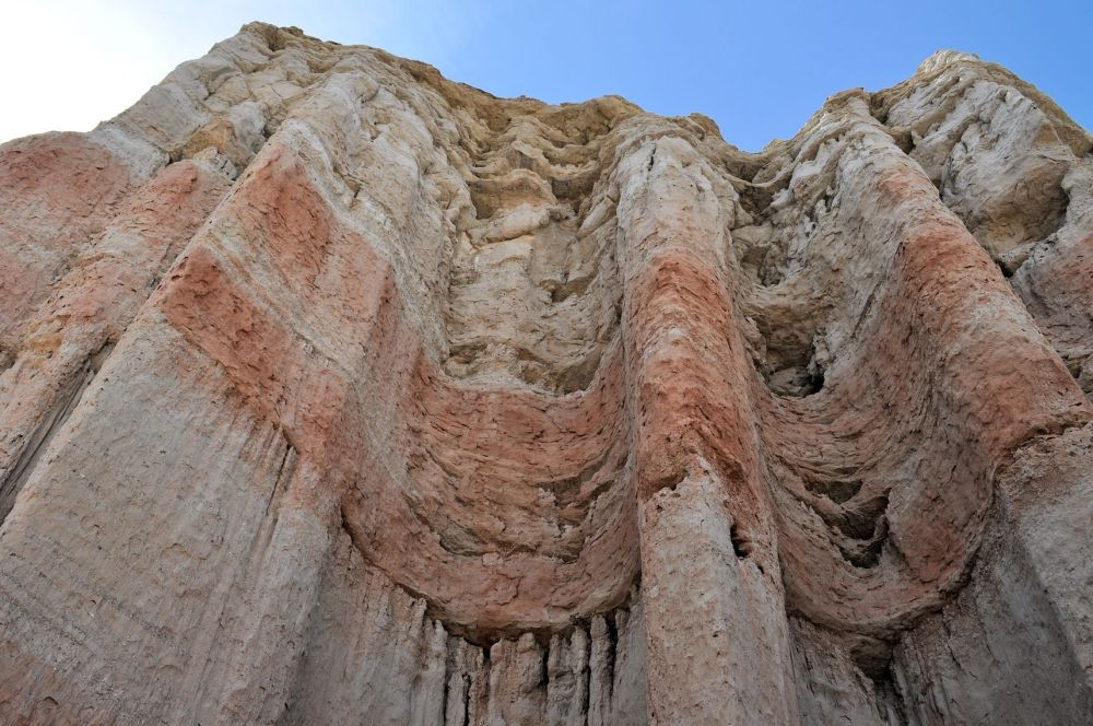 This cliff looks like curtains of fabric to me.