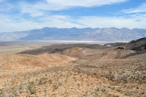 The view of Death Valley from the southwest.