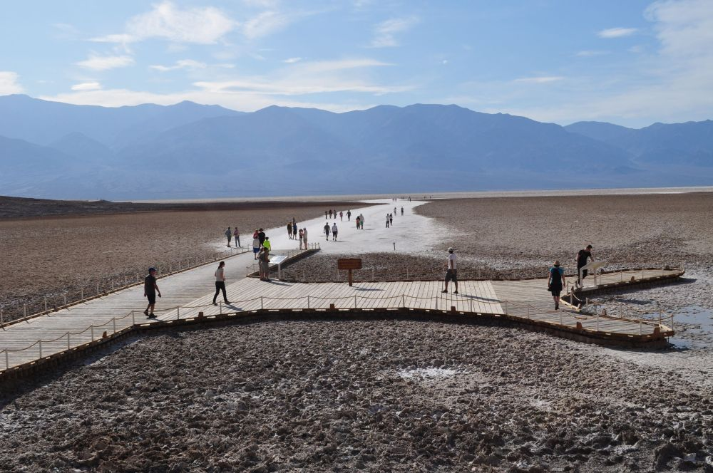 The path out into Badwater Basin
