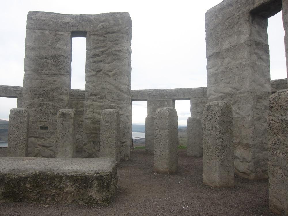 Inside the Stonehenge replica