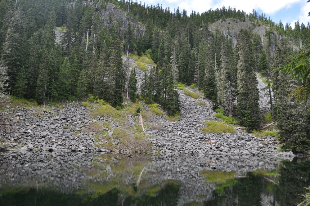 High Lake, looking up toward Fish Creek Mountain