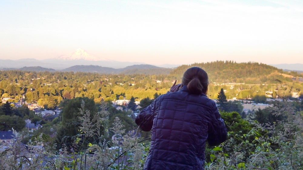 Arno captured me, capturing the mountain.