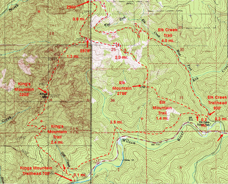 Our trailhead can be found on the far right side of the image. We hiked northwest and made a sharp curve and hiked southeast all the way back.
