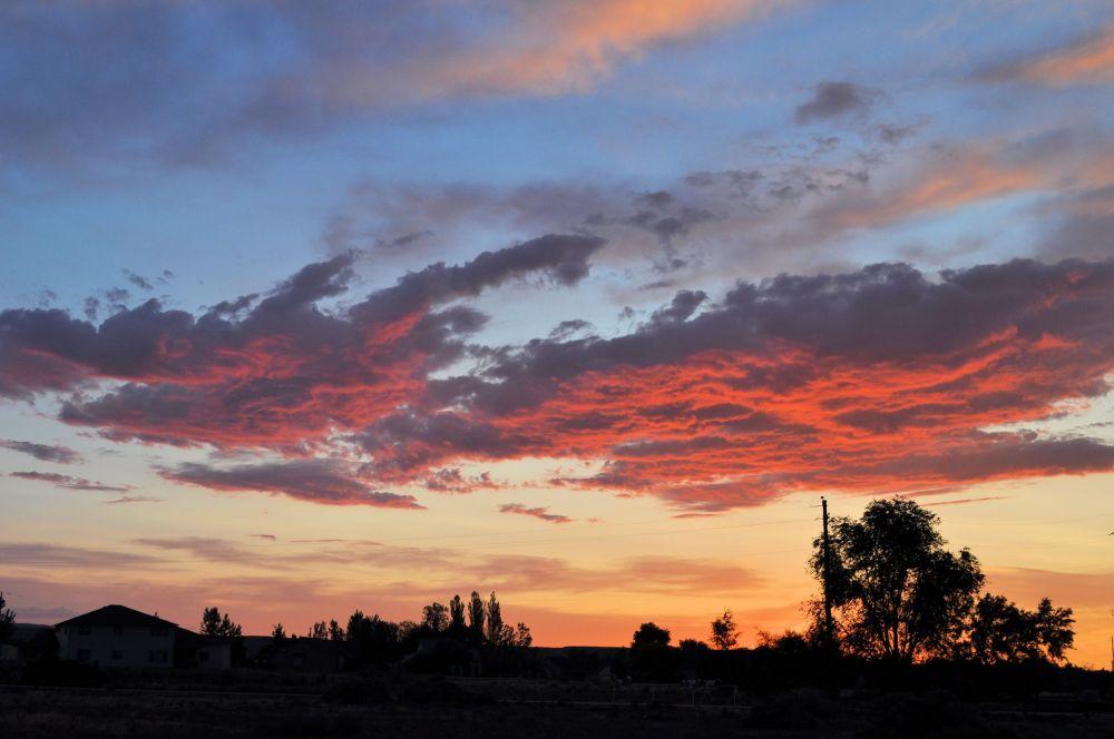 Sunset in the Owyhee desert