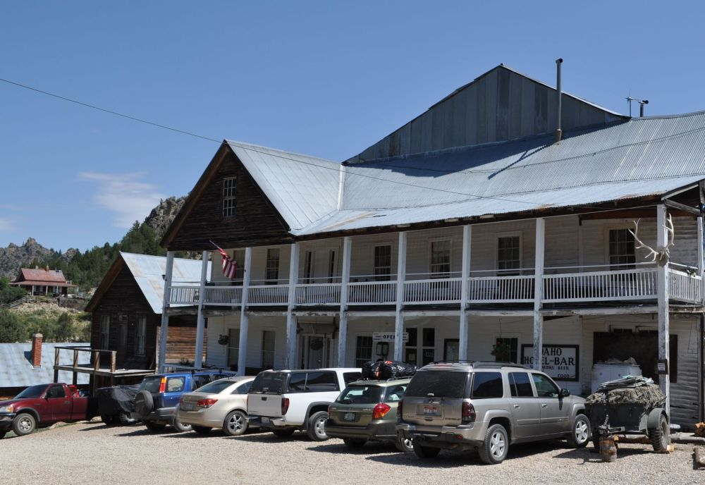 """Front of Idaho Hotel, and the true """"downtown"""" of this darling little settlement."""
