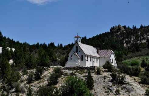 Catholic church on a hill