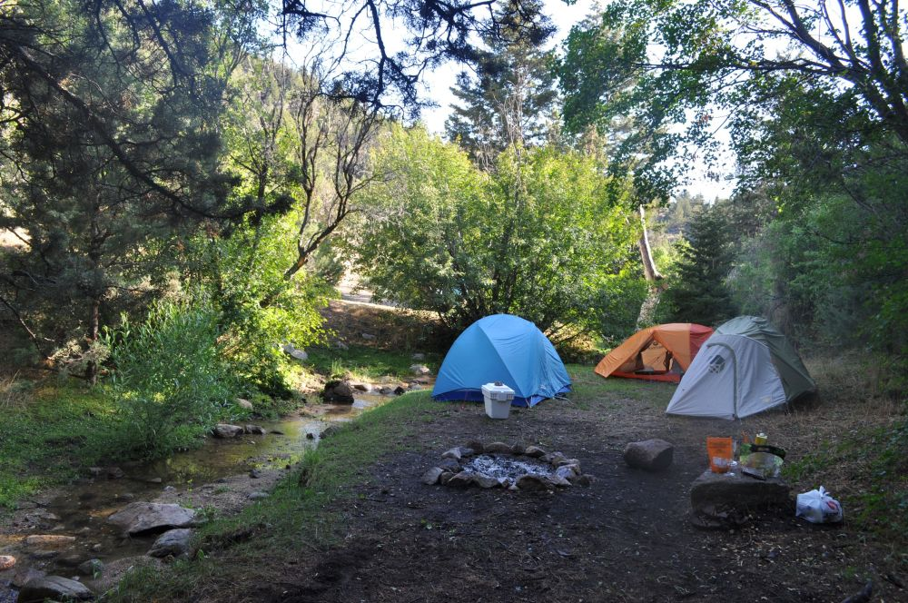 Our camp on night #2