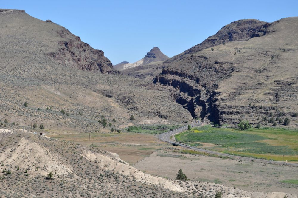 Picture Gorge. On the other side of that gorge is the turn off road to the Visitor Center and museum.