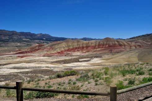 View from the Painted Hills Overlook trail