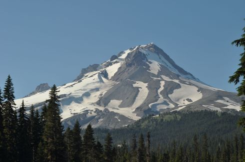 A new perspective of Mount Hood. This is from the south, an angle I don't get to see very often.