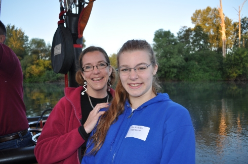 Girlie and me on the Willamette River