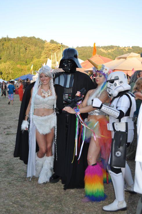 Darth Vader, a Storm Trooper and ...unicorns?