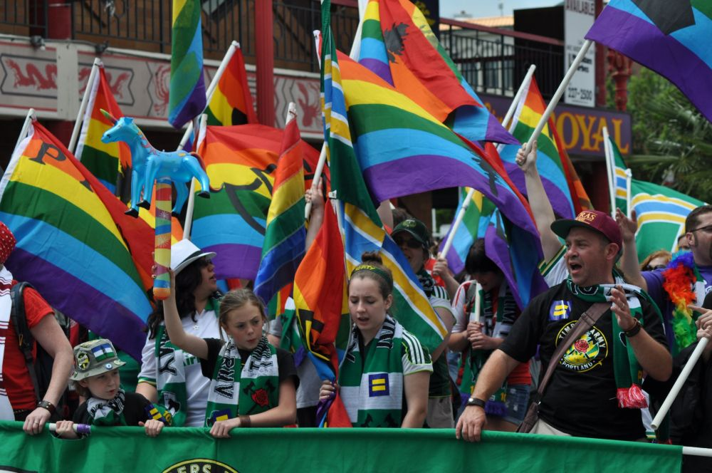 The Timbers Army loves LGBT!