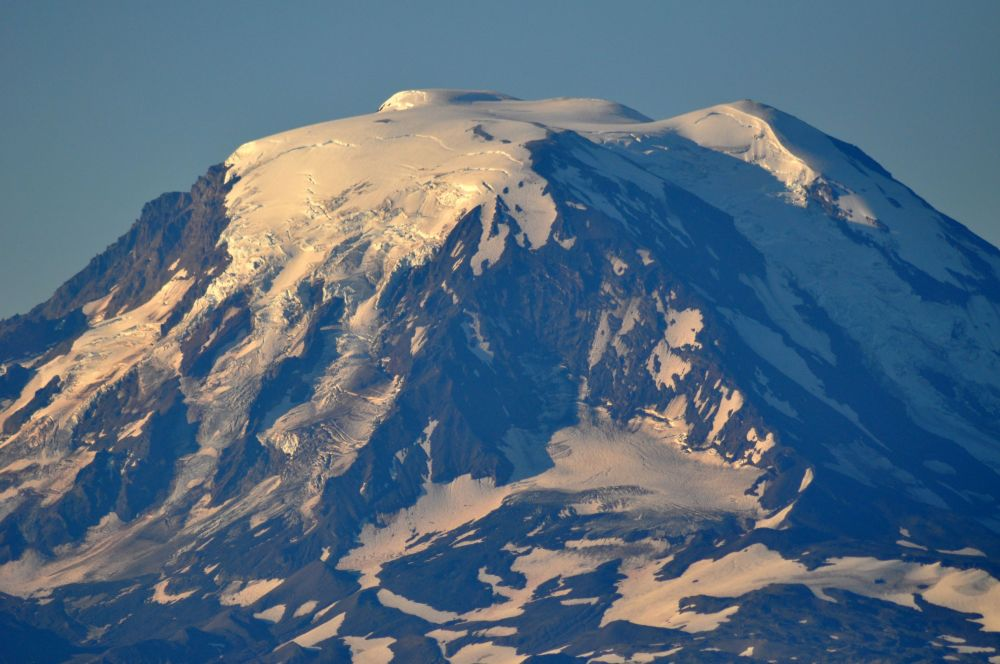 Up close and personal with Mt. Adams. You can almost feel the frigid air coming off the glaciers, huh?