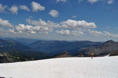 Arno trekking out onto the McCall Glacier