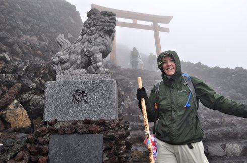 This is me, just below the summit of Mt. Fuji, though I don't really know how close yet. (The smile is part relief and part hope.)