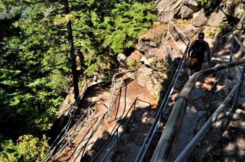 Looking over the edge onto some of the switchbacks we traversed.