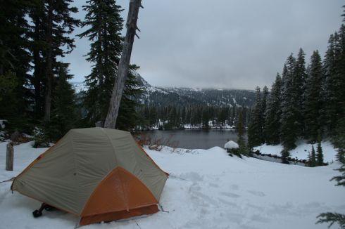 Tent on snow. Brrr!
