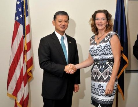 Me with Eric Shinseki, Secretary of Veterans Affairs