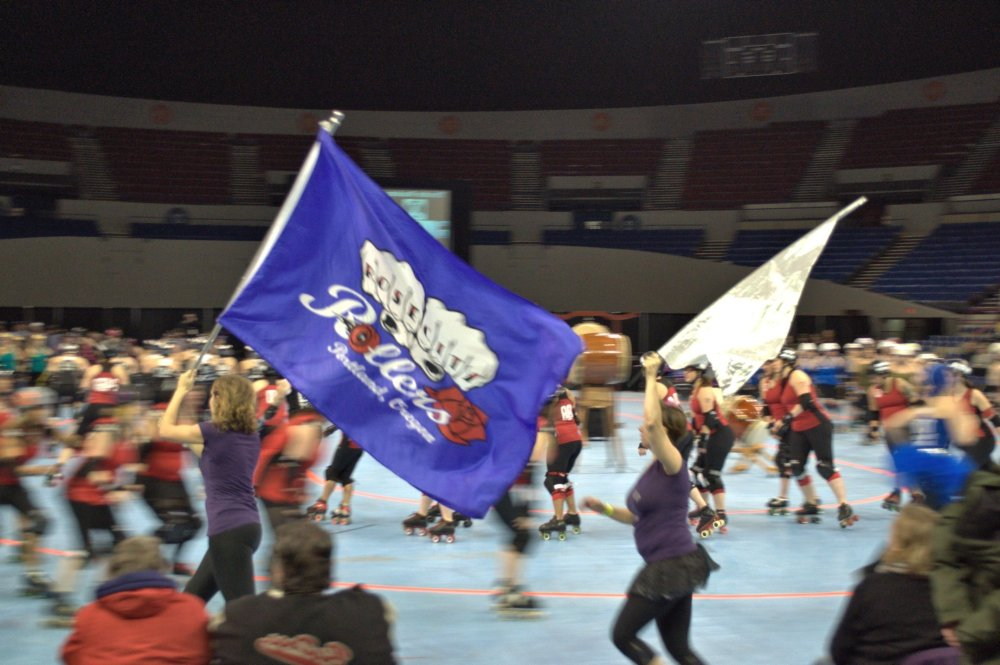 Rose City Rollers flag!