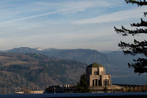 A closer view of the Vista House