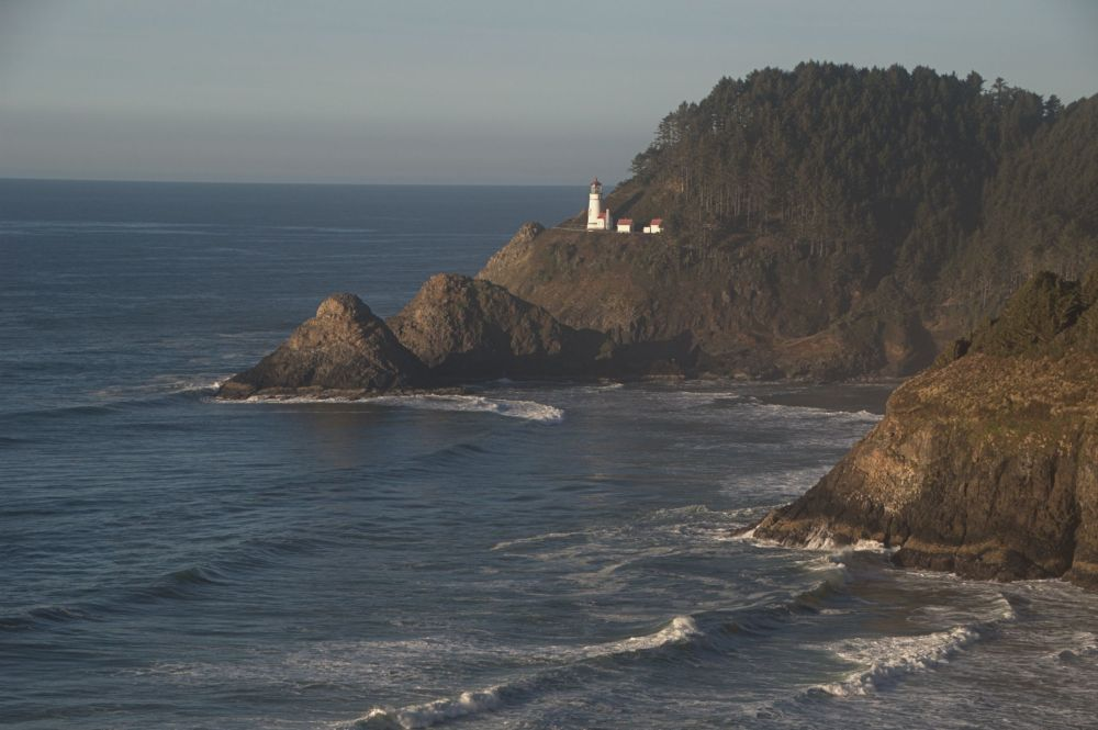 View of the lighthouse from Sea Lion Caves