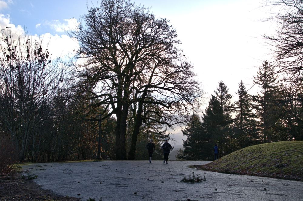 Joggers near the top to Tabor