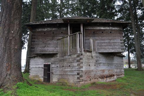 Blockhouse in Dayton, Oregon