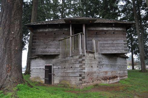 Blockhouse in Dayton, Oregon