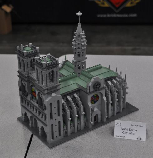 Notre Dame cathedral. I like the idea of overlapping architecture: How Legos are used to recreate a cathedral that is remarkable for its construction.