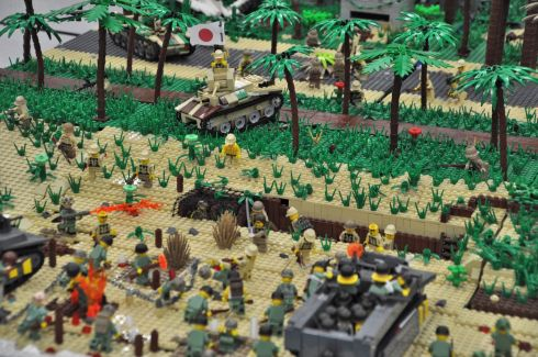One of several battle scenes. Check out the exploding dirt.