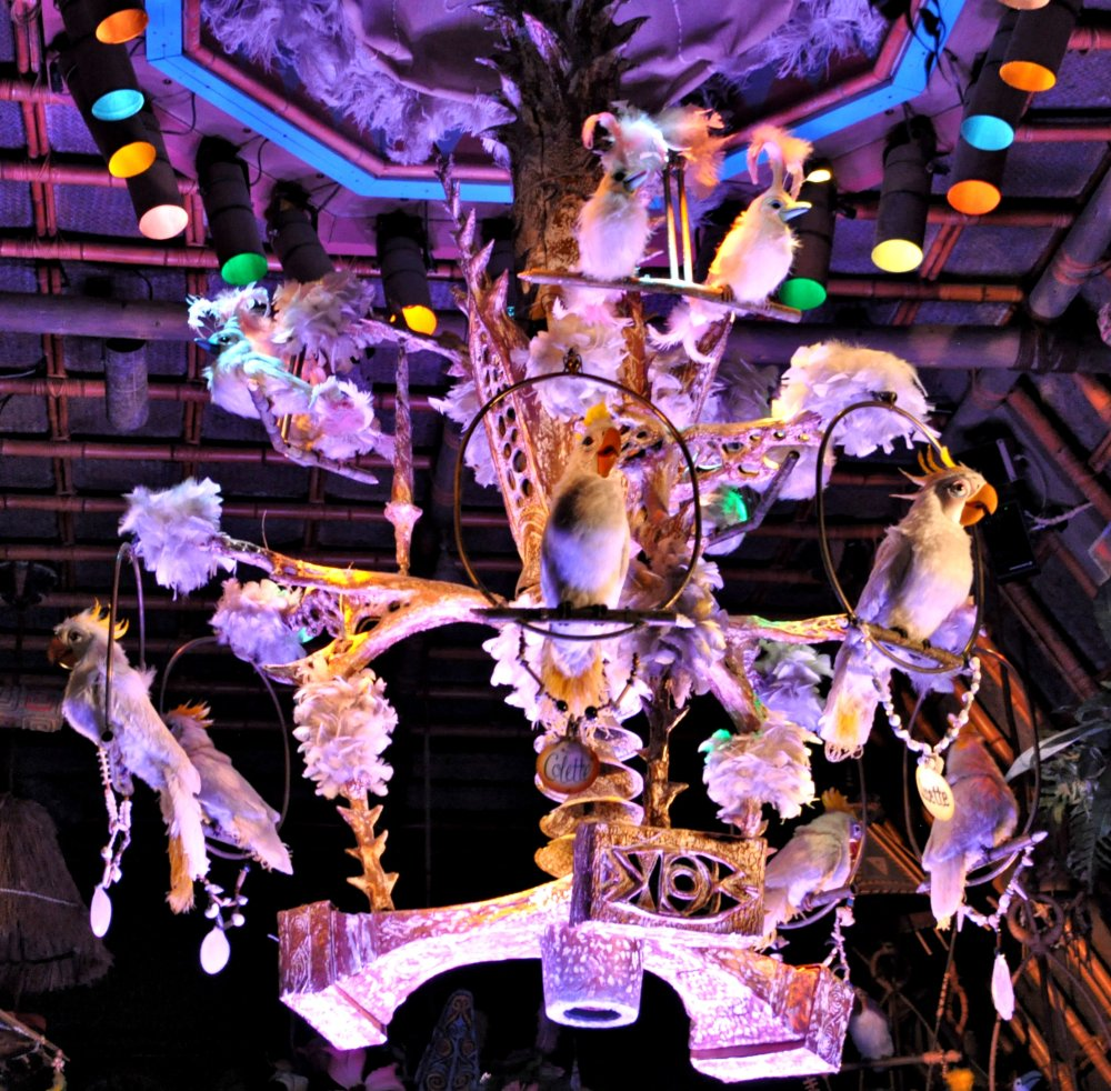 The Ladies of the Tiki Room sing us a song. (Clue #4)
