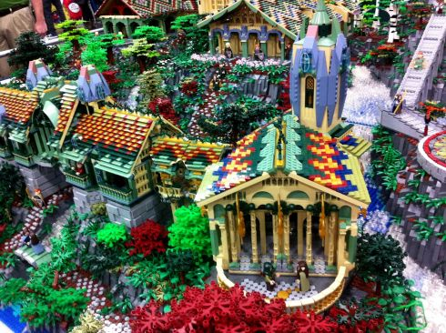 close-up of a portion of Rivendell