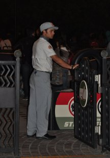Attention the detail included uniforms that suited each section of the park.