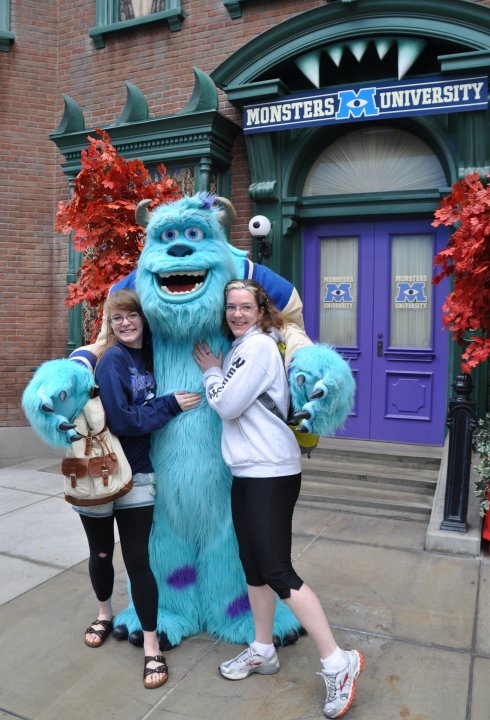 "My second favourite was this big blue monster. I was literally squealing ""Hi Sully!"""