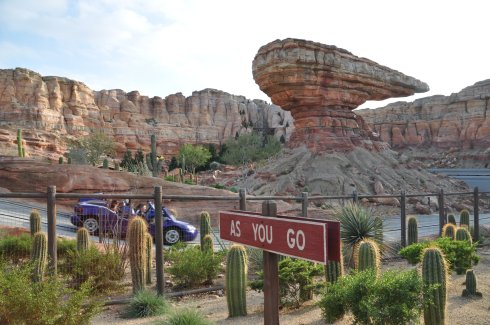 Radiator Springs Racers was one of our favourite rides.