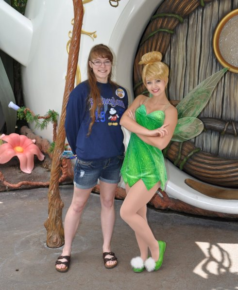 "Miss T's fave stop was probably Pixie Hollow. She confessed to me later, ""I was expecting a person playing Tink, but she was the real Tinkerbell! She was perfect!"""