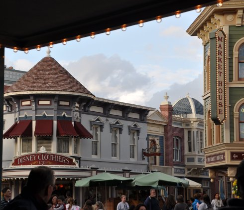 A view along Disneyland's Main Street.