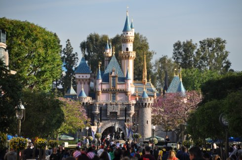 The fabulous Disneyland castle, mini-sized to be more fun for kids, but still pretty darn immense and impressive.