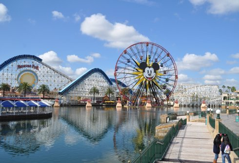 See? Mickey Mouse logo and all; the park is here.