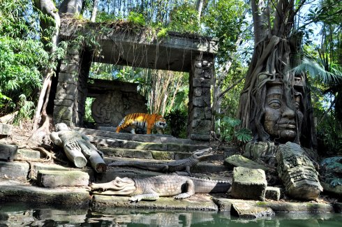 With temple ruins and Bengal tigers and fat lazy rivers?
