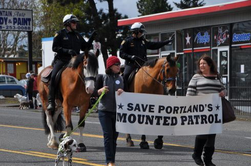 Yes, our mounted police are in danger from budget cuts.