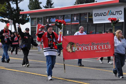 While our Timbers Army may be famous, we've got rabid fans of other team too: like those who love the Blazers and the Winterhawks - our ice hockey team.